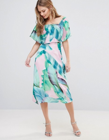 Every Cloud Palm Print Midi Dress