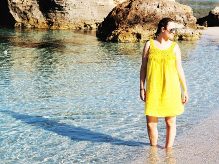 Yellow Beach Dress in Ibiza