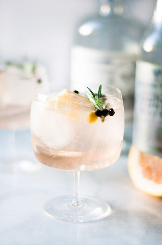Gin and flavoured tonic