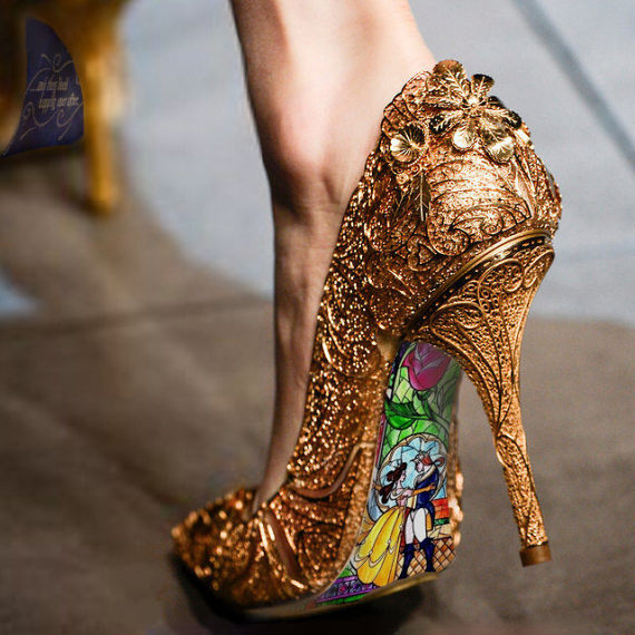 Beauty and The Beast Hand Painted Shoes