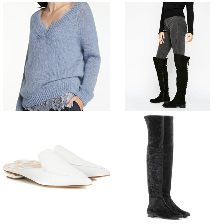 Jumpers and knee high boots