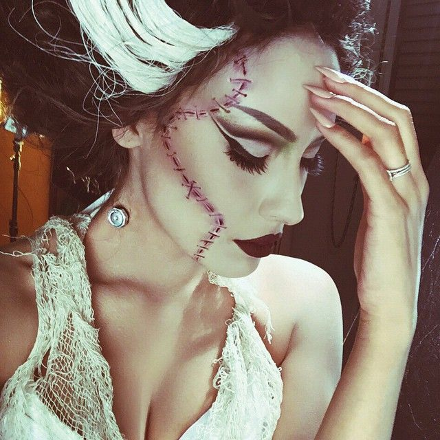 Desi Perkins -bride-of-frankenstein-makeup-