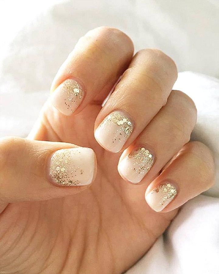 Festive nude nails