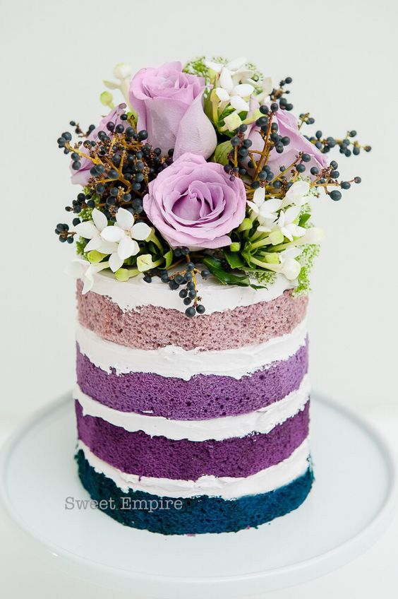 coloured naked cake