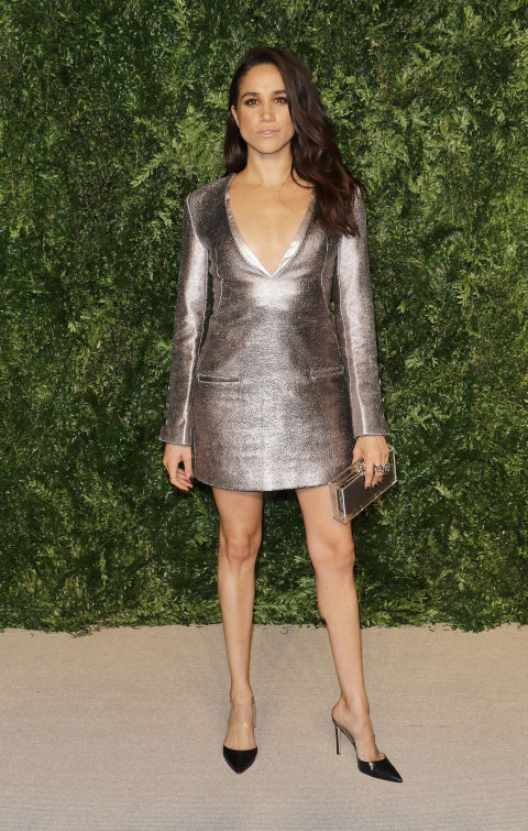 meghan silver dress