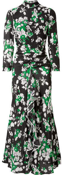 Rixo London| Lucy Ruffled Floral-Print